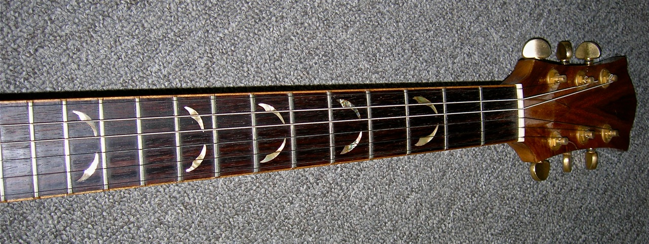 Abalone Inlay on Rosewood Guitar Finger Board