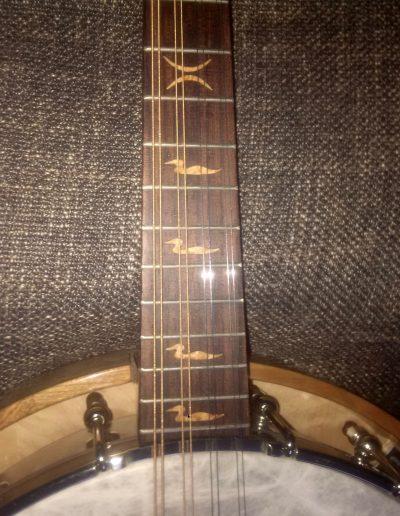 Banjolin Rosewood Fingerboard with Birdseye Loon Inlays