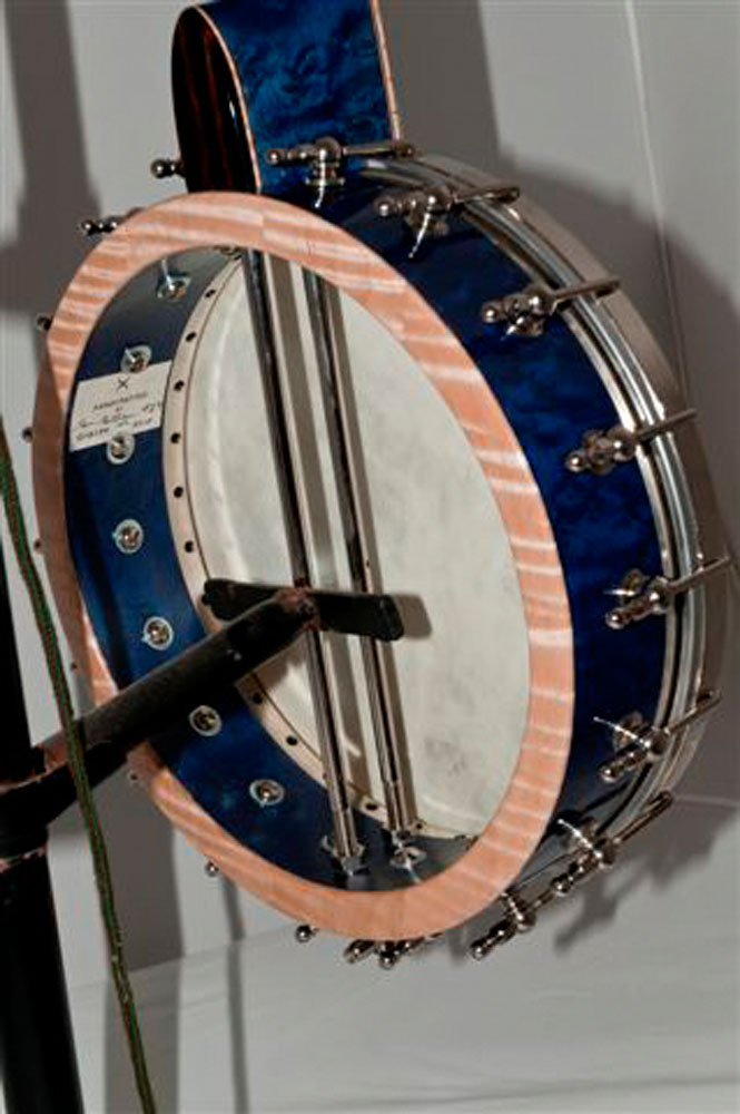 Blue Birds Eye Maple Banjo