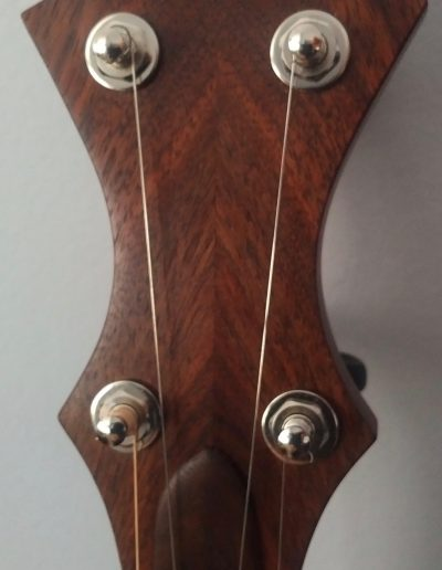 Bookmatched Walnut Headstock with Mountain Grain Pattern