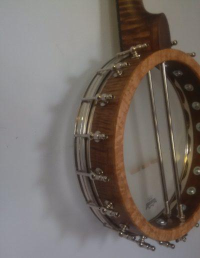 Curly Maple Banjo with Birds Eye Maple Pot Cap