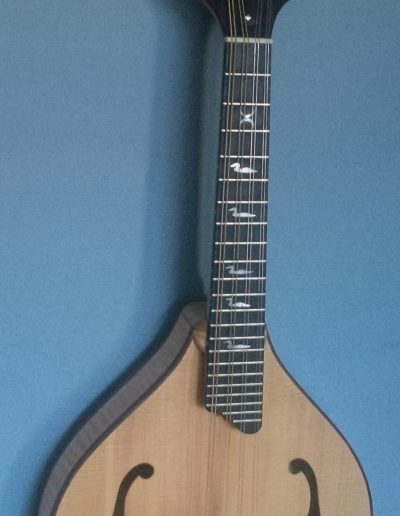 Curly Maple and Sitka Spruce A-Style Mandolin with Mother of Pearl Inlays