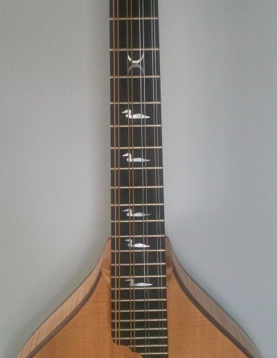 Ebony Mandolin Fingerboard with Mother of Pearl Floating Loon Inlays