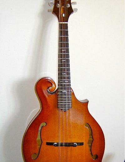 F-Style Mandolin in Curly Maple, Sitka Spruce, Ebony and Walnut