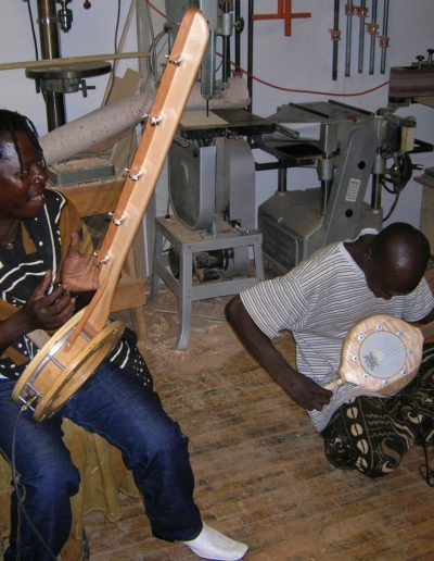 From Mali, Jah Youssouf and Abdoulai Koni jamming on N'Goni's in shop