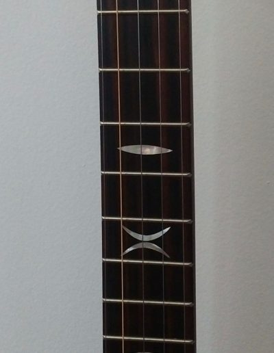Mother of Pearl Inlays in Ebony Fingerboard