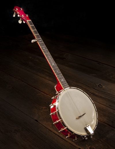 Red Birds Eye Maple Tubaphone Banjo