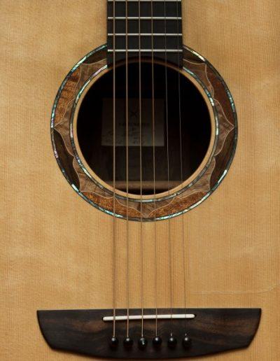 Rosette Detail of Ziricote Guitar