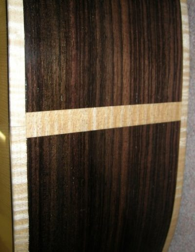 Rosewood Guitar Sides and Curly Maple Binding