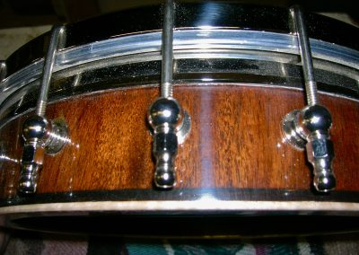 Staved Jointed Mahogany Banjo Rim with Curly Maple Cap & Whyte Lady Tone Ring