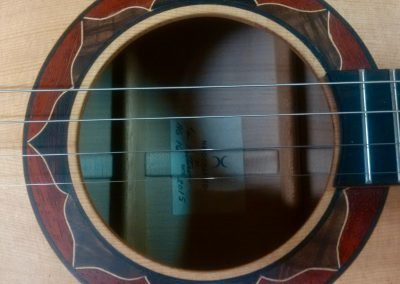 Tenor Guitar Rosette with Walnut Ebony Peduc Maple