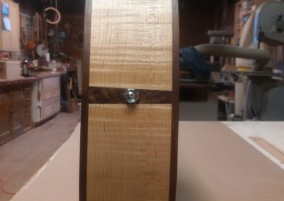 Walnut Insert between Curly Maple Sides