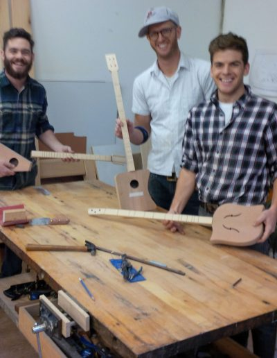 Willowbank School Students. During a semester teaching at Willowbank I offered the building of these modified Dulcimers to the eager students who had completed the first project. They all finished them.